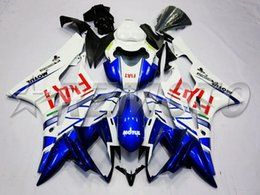 Wholesale R6 Fairing Kit Fiat - New Injection mold Fairing kit Fit for YAMAHA YZFR6 06 07 YZF R6 2006 2007 YZF600 yzfr6 06 07 ABS white blue red FIAT Fairings set+4gifts