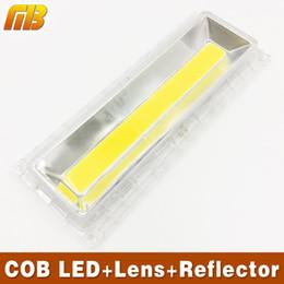 Wholesale Cob Led Lens - Wholesale- 1Set COB LED lamp Beads+Lens Lmaps Include: PC lens+Reflector+Silicone Ring For MB Lighting Flood light Warmwhite Coldwhite DIY