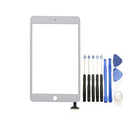 ipad mini herramientas Rebajas Pantalla táctil Panel de vidrio con digitalizador para iPad Mini 1 2 Blanco y negro con herramientas