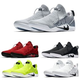 Wholesale Purple Polka Dot Shoes - 2017 Mens KOBE AD NXT 12 Men KB Volt White Black AD WOLF GREY Zoom Sport Shoes Discount Cheap Basketball Shoes 14 Colours Size Eur 40-46