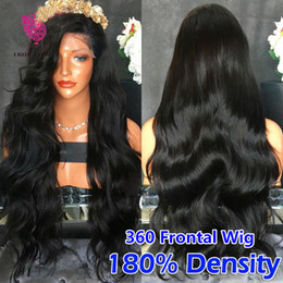 Wholesale Hair Human Caps - 360 Lace Frontal Wigs 180% Density Brazilian Full Lace Human Hair Wigs 360 lace band frontal closure cap wigs For Black Women