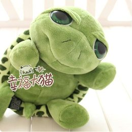 Wholesale Tortoise Dolls - Wholesale- 1pcs 25cm Love Apartment lovely Big Eyes Small Turtle Tortoise Doll Baby Toy Cute Doll Plush Toys Girls Gifts free shipping