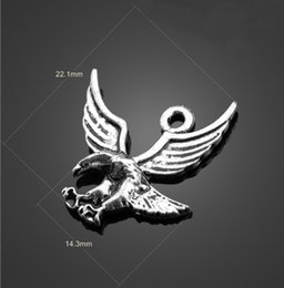 Wholesale Eagles Charms - Come on Guys 150pcs eagle hawk Charms Pandora Antique Silver Alloy Jewelry Fit For Bracelet Pendant Necklace Man&Woman 22*14mm