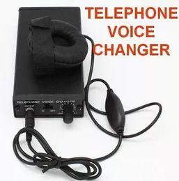 Telefone transformador on-line-Mais novo telefone trocador de voz Professional voz Disjuntor Transformador Transformador de telefone televoicer handheld Mudança de Voz Gadgets preto