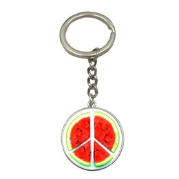 Wholesale Cheap Men Silver Rings - Wholesale DIY High Quality Peace Keychain Cheap Fashion Silver Color King Ring Top Selling Women Men Key Chain Free Shipping NS145