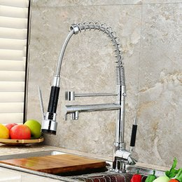 Wholesale Kitchen Faucet Out - Kitchen Faucet Tap Contemporary Pull-out ­Pull-down Sink Faucet Deck Mounted Pullout Spray Kitchen Sink Luxury Faucet