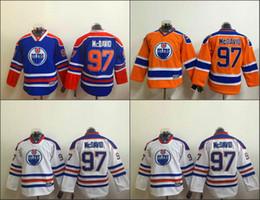 Wholesale Cheap Kids Linen - Cheap youth Connor McDavid Jersey Edmonton Hockey Jerseys #97 Connor McDavid Vintage kids CCM Jersey Royal Blue White Stitched Logo