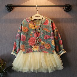 Wholesale Next Dresses Girl - Wholesale- Girls' suits 2016 New arrival Autumn girls T-shirt + dress 2pcs clothing children's skirt suit girls clothing next girls