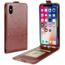 Wholesale Leather Folio Wallet - Flip Folio Leather Wallet Case for iPhone X Mobile Phone Cover for iPhone 8 7 Plus