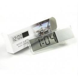 Wholesale Digital Transparent Lcd - Car Electronic Clock Mini Durable Transparent LCD Display Digital Sucker M00074