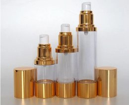Wholesale Golden Vacuum - 2017 new 30ML golden airless bottle or lotion bottle with airless pump Bottle,Vacuum,Cosmetic Packaging