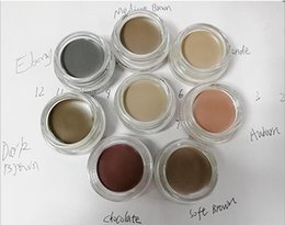 Wholesale Eyebrow Hot - Sell pomade waterproof eyebrow paste enhancer hot pomade medium brown waterproof makeup eyebrow color color auburn   4 g dark chocolate