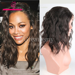 natural black 1b hair color 2018 - Greatremy® Glueless Lace Wigs Brazilian Hair #1b Black Natural Wave Mink Human Hair Lace Front Wig Full Lace Wig Wavy Hair