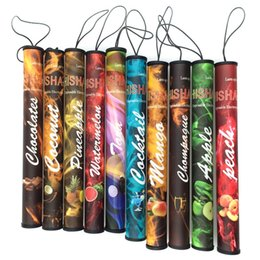 Wholesale Hookah Pens Cheap - Wholesale-Hot sale cheap shisha pen disposable electronic cigarette hookah 500 puffs Natural Fruit Flavors Flavored e cigarettes