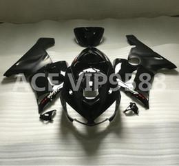 Wholesale Zx6r Kawasaki 636 - 3gifts Fairing Kit for KAWASAKI Ninja ZX6R 636 05 06 ZX 6R 2005 2006 zx6r Compression mold Fairings set Black A17