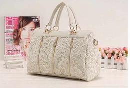 Wholesale Luxury Work Bags - Wholesale- fashion bags ladies luxury bags lace designers totes Women Leather working bags ladies Tote Shoulder Bag Handbag black