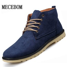 Wholesale High Ankle Boots For Men - Wholesale-2016 New PU Leather Men Boots Fashion Cotton Brand ankle boots Shoes men for Spring Autumn shoe
