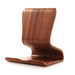 Wholesale Galaxy Tab Aluminium - Wholesale- Wooden Stands Holder For Kindle Macbook Ipad Mini Galaxy Tab 4 3 2 note 10.1