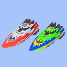 2019 bateaux électriques pour les enfants Gros-Puissants Télécommandes Speedboats 25 km / h Haute Vitesse En Plastique Électrique Rc Bateaux Jouets Modèle Bateau Voile Enfants Enfants Navire promotion bateaux électriques pour les enfants