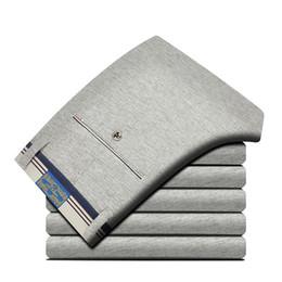 Wholesale Fly Port - Wholesale-Port&Lotus Casual Elastic Men Pants Fashion Mid Waistline Size 28 to 40 Men Pants 005 TS Trousers For Men Clothing wholesale