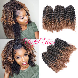 bugs hair extensions Promo Codes - 3Pcs Lot MARLYBOB HAIR Jamaican BOUNCE OMBRE BUG AFRO KINKY CURLY 8INCH mali bob hair extensions SYNTHETIC BARIDING HAIR crochet braids HOOK