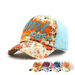 Wholesale Toddlers Girls Baseball Hat - Kids Baseball Hats Sweet Letter Snapback Caps for Boys Girls Fashion Sport Hiphop Children Summer Toddler