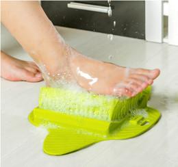 Argentina Pies de baño de pie Cepillo de ducha Spa Lavadora Limpiador Scrubber Masajeador Pie desgaste Con Sucker Puede colgar Suministro