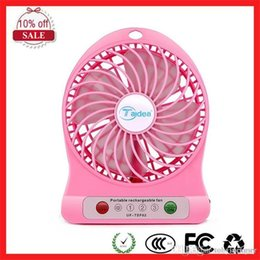 Wholesale Table Lamps Wholesalers China - F95B Portable Mini USB Fan Battery 18650 Operated LED Lamp fan for Indoor Outdoor Kids Table travel christmas
