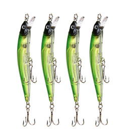 Wholesale Plastic Wobblers - 4pcs 1lot Fishing Lures Sea Fishing Tackle Hook Hard Bait Lead Fishing 9.5cm 9g Artificial Bait Jig Wobblers Plastic Lure Hot Sale