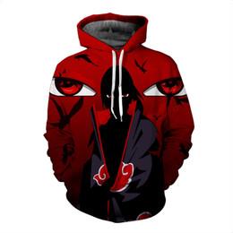 Wholesale Naruto Sasuke Hoodie - Wholesale- Naruto Sasuke 3d PRINTED Hoodie Sweatshirt Male Long Sleeve Outerwear Pullovers CARTOON Jacket Men
