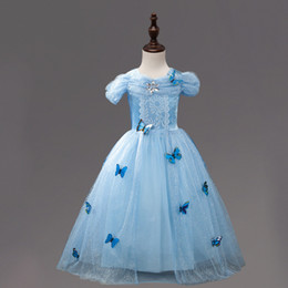 Wholesale fancy kids clothing - Cinderella Dress Girls Christmas Tutu Costumes For Girls Dresses Kids Role-play Party Fancy Dress Children Clothing girl's dress up tutus