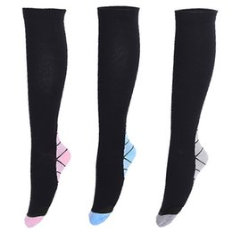 Wholesale Knee High Socks Hot - 2017 Hot Sale Mens women Compression Socks Foot Pain Relief Soft Anti Fatigue Magic Socks Support Knee High Stockings free shipping