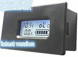 Wholesale Lcd Digital Voltage Tester - PEACEFAIR Digital Lithium Battery Tester LCD Meter Voltage Current Electric Quantity 18650 18350 26650 Lithium Battery