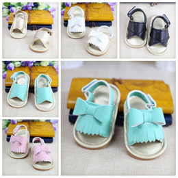 Wholesale Toddler Summer Sandals Boys - Wholesale summer Tassel baby sandals boys girls toddler casual shoes Multicolor high top baby shoes newborn floor shoes