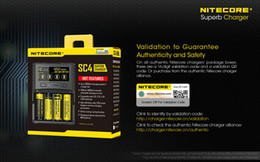Wholesale E Cig Charges - Nitecore SC4 LCD Inteligent Charger 3000mA Rapid Charging Speed E Cig Charger LCD Screen With MVA Technology For 18650 26650 Battery
