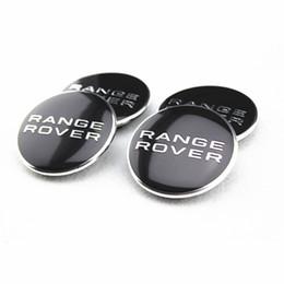 Металлические эмблемы алюминий онлайн-Черный Range ROVER 62мм ступица колеса центр логотип Cap знак эмблема металл алюминий для LAND RANGE ROVER Evoque Discovery