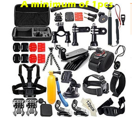 Wholesale Cam Accessories - GoPro accessories 50 in 1 set mount for Sony Action cam HDR AS15 AS20 AS200V AS30V AS100V AZ1 mini FDR-X1000V W 4 k