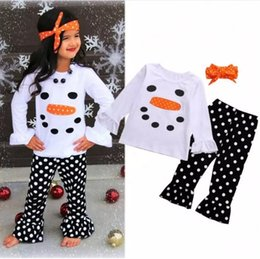 Wholesale Newborn Baby Girls Toddler Costume - Baby clothes Toddler Girl Clothing Set Fall Autumn Newborn Infant Boutique Outfit Suit Long Sleeve Shirt Trouser Black Pant Next Kid costume