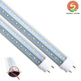 4-футовая светодиодная лампа T8 28 Вт 4 фута G13 V-образная двухсторонняя светодиодная подсветка для магазина Холодильник с морозильной камерой витрина 25-упак. от