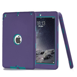 """Wholesale Kids Ipad Tablet - Smoothness Robot Case For Ipad Pro 9.7"""" Inch With Dual Colors of Kids Protector Case PC Silicone Hybrid Back Cover Tablet PC Apple"""