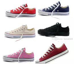 Wholesale Navy Blue Chucks - HOT New 13 Color All Size 35-45 Low Style sports stars chuck Classic Canvas Shoe Sneakers Men's Women's Canvas Shoes Unisex