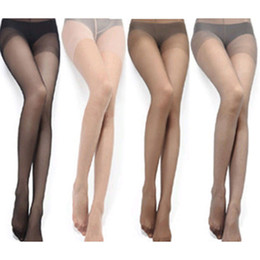 Wholesale Wholesale Sexy Stockings - Wholesale-1 pc FASHION Sexy Full Foot Women Thin Sheer Tights Stocking Panties Pantyhose hot selling 4 Colors