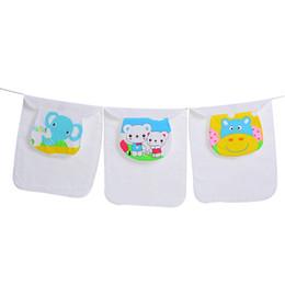 Wholesale Gauze Scarfs - Baby Sweatbands Four layer soft gauzeBaby Sweatbands Towels Toddlers Cartoon Sweat Towel Kids Gauze Absorbent Back Towels Children Pad