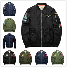 f9e8f26b1ef military coat buttons Coupons - 2017 Fall-Flight Pilot Jacket Coat Bomber  Ma1 Men Bomber
