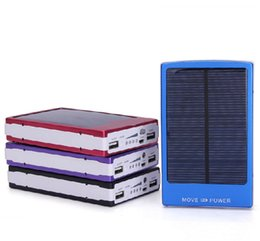 Wholesale Wholesale Solar Mobile Charger - Dual USB Solar Battery Chargers High Capacity 30000mAh Portable Solar Energy Panel Charger Power Bank For Mobile Phone PAD Tablet MP4 Laptop