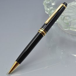 Wholesale Ball Point Pen Black - Luxury Germany brand #163 black resin and metal ballpoint pen with stationery school office supplies writing smooth MB ball-point pen gifts