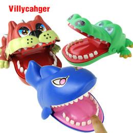 Wholesale Plastic Mouth Gag - Large Bulldog Crocodile Shark Mouth Dentist Bite Finger Game Funny Novelty Gag Toy for Kids Children Play Fun