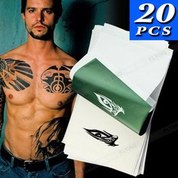 Wholesale Spirit Thermal - 20PC Four Layers Tattoo Stencil Transfer Paper Spirit Thermal Carbon Tracing Copier