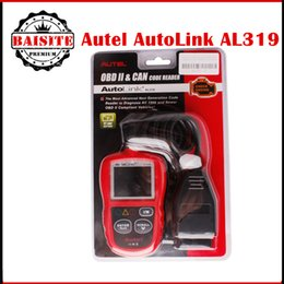 Wholesale Universal Diagnosis Tool - 100% Original Autel AutoLink AL319 Universal OBD2 & Can Code Reader Scanner Car OBDII Diagnosis Scan Tool AL-319 free dhl
