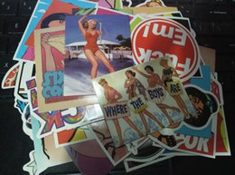 Wholesale Girls Wholesale Luggage - 52Pcs Sexy Hot Women Girls Nude Pin Up Stickers Car Laptop Film Phone Sticker Luggage Vinyl Decor Guitar Phone Case